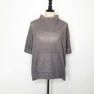 BCBGMAXAZRIA Dusk Gray Knit Sweater